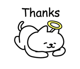Cat lying down 6 angel version sticker #3866960