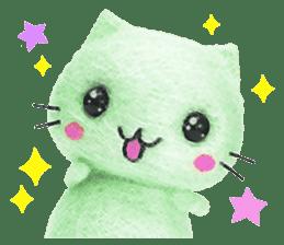 MitchiriNeko Felt-Craft Sticker sticker #3868574