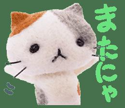MitchiriNeko Felt-Craft Sticker sticker #3868577
