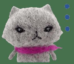 MitchiriNeko Felt-Craft Sticker sticker #3868579