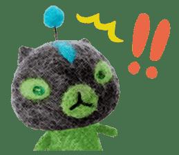 MitchiriNeko Felt-Craft Sticker sticker #3868582