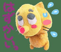 MitchiriNeko Felt-Craft Sticker sticker #3868587