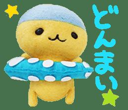 MitchiriNeko Felt-Craft Sticker sticker #3868588