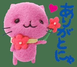 MitchiriNeko Felt-Craft Sticker sticker #3868594
