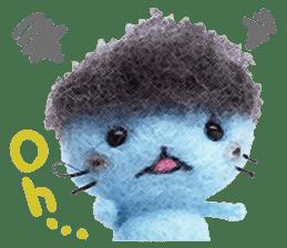 MitchiriNeko Felt-Craft Sticker sticker #3868596