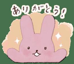 Fluffy bunny & Girl sticker #3879611