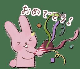 Fluffy bunny & Girl sticker #3879612
