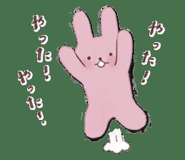 Fluffy bunny & Girl sticker #3879619