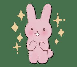 Fluffy bunny & Girl sticker #3879620