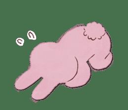 Fluffy bunny & Girl sticker #3879624