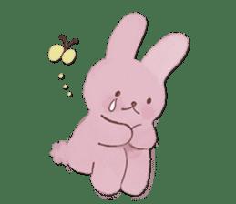 Fluffy bunny & Girl sticker #3879627