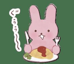 Fluffy bunny & Girl sticker #3879632