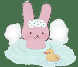 Fluffy bunny & Girl sticker #3879633