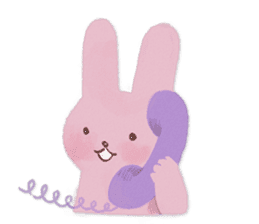 Fluffy bunny & Girl sticker #3879634