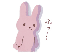 Fluffy bunny & Girl sticker #3879641