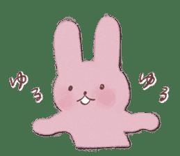 Fluffy bunny & Girl sticker #3879645
