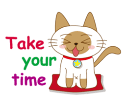 """siamta"" of siamese cat (English ver.) sticker #3882935"