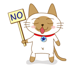 """siamta"" of siamese cat (English ver.) sticker #3882941"