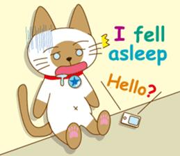"""""""siamta"""" of siamese cat (English ver.) sticker #3882962"""