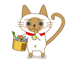 """siamta"" of siamese cat (English ver.) sticker #3882965"