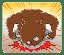 Muscle man sticker #3905205