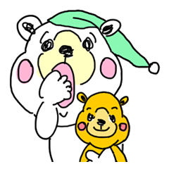 "Cuddly white bear ""KAWAII-KUMA"" 2"