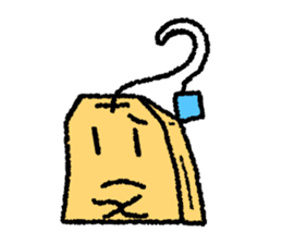 tea bag chan sticker #3915339