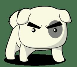Caramel : Naughty dog sticker #3923009