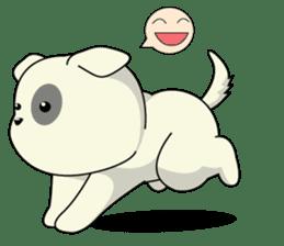 Caramel : Naughty dog sticker #3923011