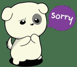Caramel : Naughty dog sticker #3923021
