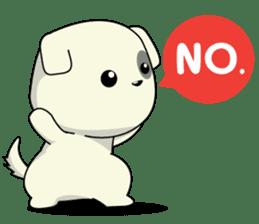 Caramel : Naughty dog sticker #3923024
