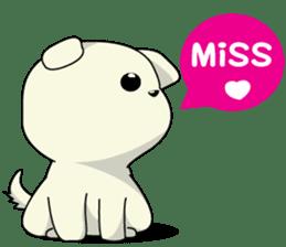 Caramel : Naughty dog sticker #3923026