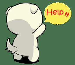 Caramel : Naughty dog sticker #3923033