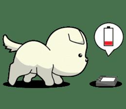 Caramel : Naughty dog sticker #3923041