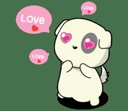 Caramel : Naughty dog sticker #3923043