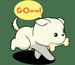 Caramel : Naughty dog sticker #3923045