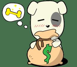 Caramel : Naughty dog sticker #3923046