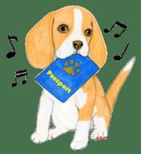 Taiwan travel of beagle dogs sticker #3931208