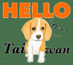 Taiwan travel of beagle dogs sticker #3931215