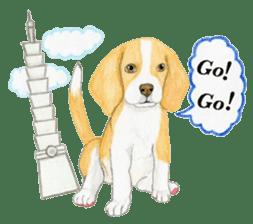 Taiwan travel of beagle dogs sticker #3931226