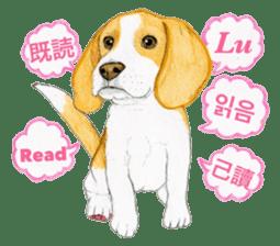 Taiwan travel of beagle dogs sticker #3931243