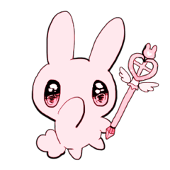 rabbits and girls / pink