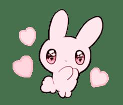 rabbits and girls / pink sticker #3938288
