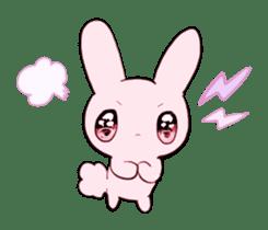 rabbits and girls / pink sticker #3938290