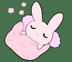 rabbits and girls / pink sticker #3938291