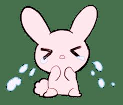 rabbits and girls / pink sticker #3938292