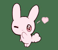 rabbits and girls / pink sticker #3938297