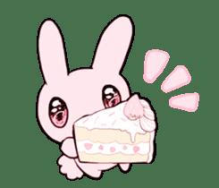 rabbits and girls / pink sticker #3938298