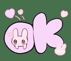 rabbits and girls / pink sticker #3938299
