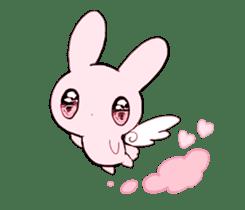rabbits and girls / pink sticker #3938301